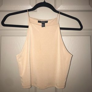Nude Cropped Tank Top